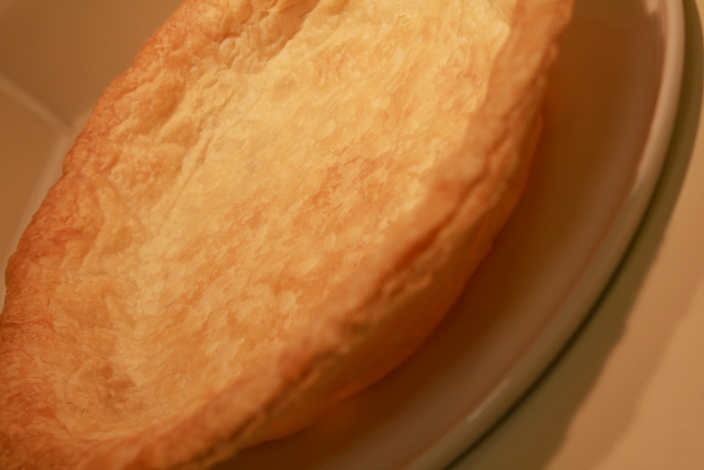 ... of dough, I took it out of the pie pan since it holds it's own shape